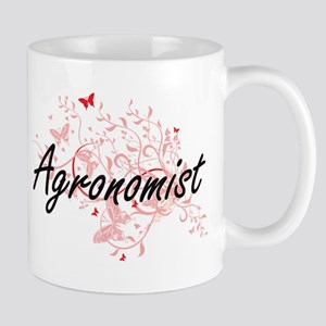 Agronomist Artistic Job Design with Butterfli Mugs