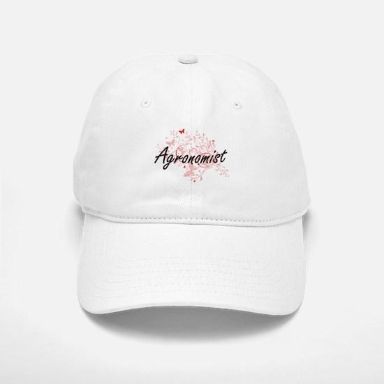 Agronomist Artistic Job Design with Butterflie Baseball Baseball Cap