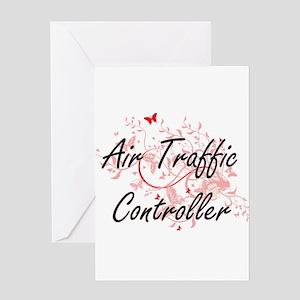 Air Traffic Controller Artistic Job Greeting Cards