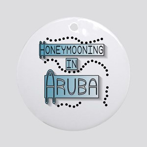 Blue Honeymoon Aruba Ornament (Round)