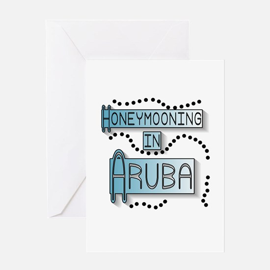 Blue Honeymoon Aruba Greeting Card
