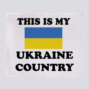 This Is My Ukraine Country Throw Blanket