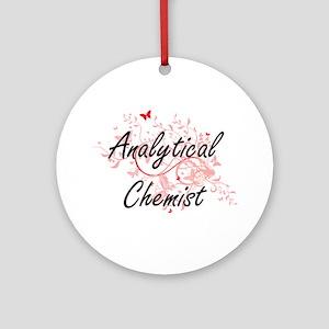 Analytical Chemist Artistic Job Des Round Ornament