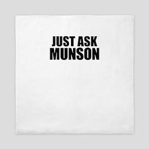 Just ask MUNSON Queen Duvet
