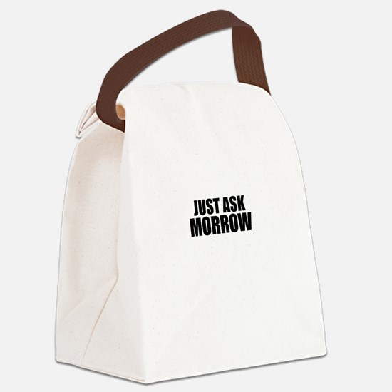 Just ask MORROW Canvas Lunch Bag