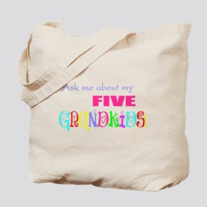 Five Grandkids Tote Bag