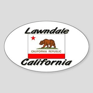 Lawndale California Oval Sticker