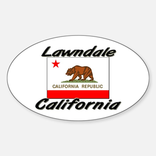 Lawndale California Oval Decal