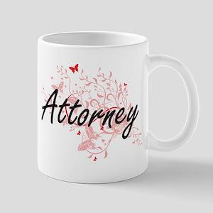 Attorney Artistic Job Design with Butterflies Mugs