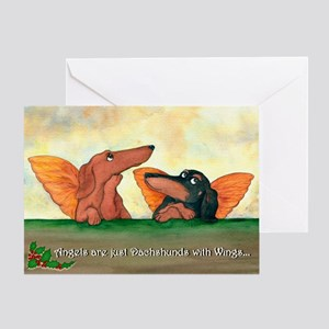 Dachshund Angels Christmas Card