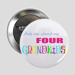 Four Grandkids Button