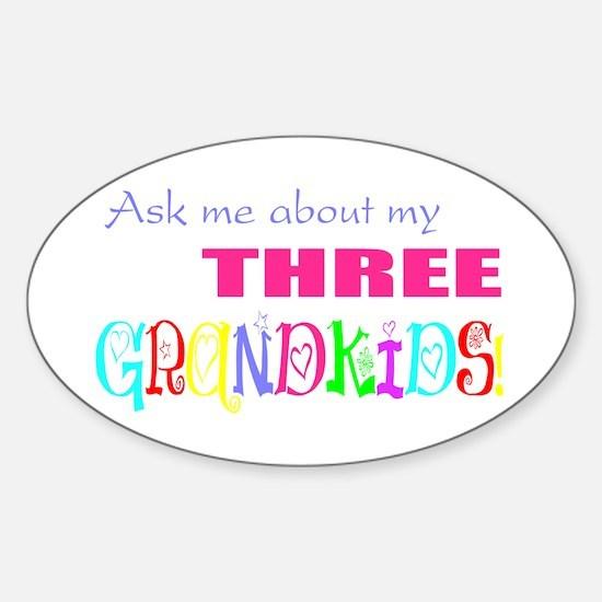 Three Grandkids Oval Decal