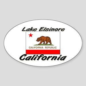 Lake Elsinore California Oval Sticker
