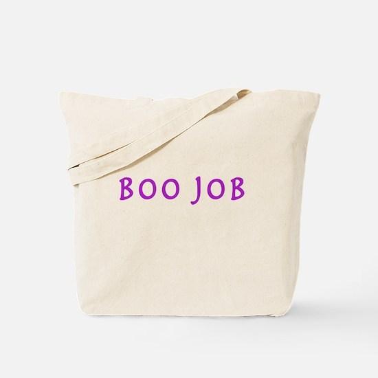BOO JOB PURPLE Tote Bag