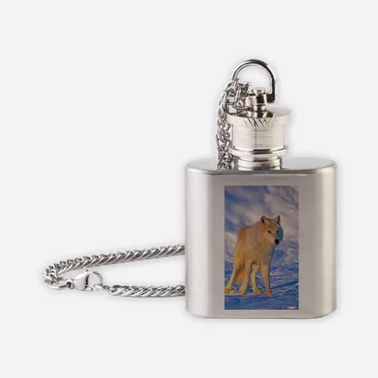 Cute Arctic tundra Flask Necklace