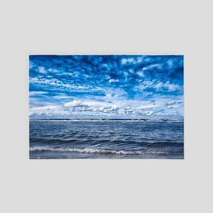 Cloudy day on the beach 4' x 6' Rug