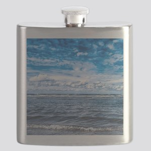 Cloudy day on the beach Flask