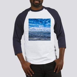 Cloudy day on the beach Baseball Jersey