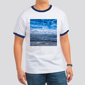 Cloudy day on the beach Ringer T