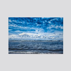 Cloudy day on the beach Rectangle Magnet