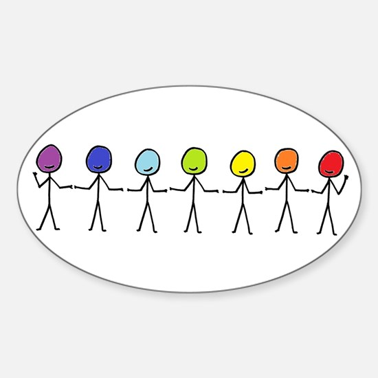 Rainbow People Decal