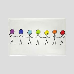 Rainbow People Magnets