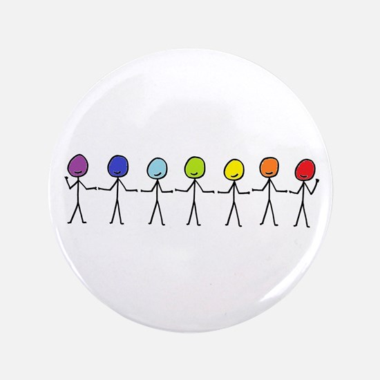Rainbow People Button