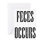 Feces Occurs Greeting Cards (Pk of 10)