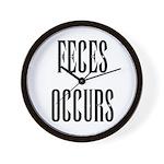 Feces Occurs Wall Clock