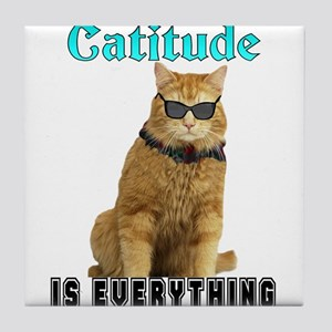 Catitude Tile Coaster