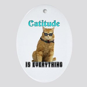Catitude Oval Ornament