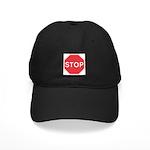 Stop Baseball Black Cap