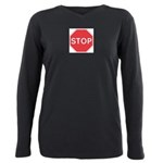 Stop Plus Size Long Sleeve Tee