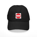 No Entry Baseball Black Cap