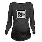 Camera Long Sleeve Maternity T-Shirt