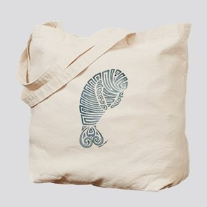 Tribal Manatee Tote Bag