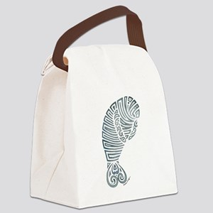 Tribal Manatee Canvas Lunch Bag