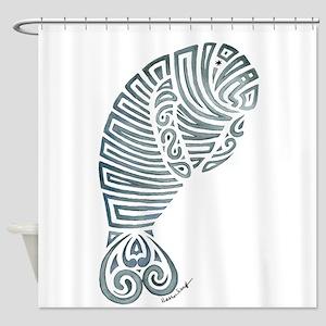 Tribal Manatee Shower Curtain