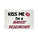Kiss Me I'm a MARKET RESEARCHER Rectangle Magnet