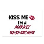 Kiss Me I'm a MARKET RESEARCHER Postcards (Package