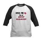 Kiss Me I'm a MARKET RESEARCHER Kids Baseball Jers