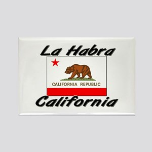 La Habra California Rectangle Magnet
