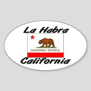 La Habra California Oval Sticker