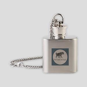 HYENA - Don't make me laugh Flask Necklace