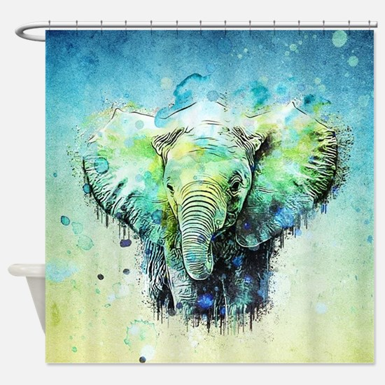 Funny Elephant Shower Curtain