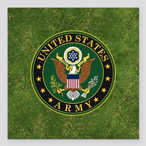 "U.S. ARMY Square Car Magnet 3"" x 3"""