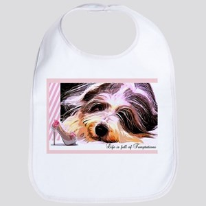 Bearded Collie Temptation Bib