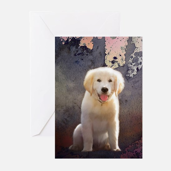 Golden Retriever Puppy Greeting Cards