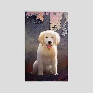 Golden Retriever Puppy Area Rug