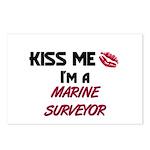 Kiss Me I'm a MARINE SURVEYOR  Postcards (Package